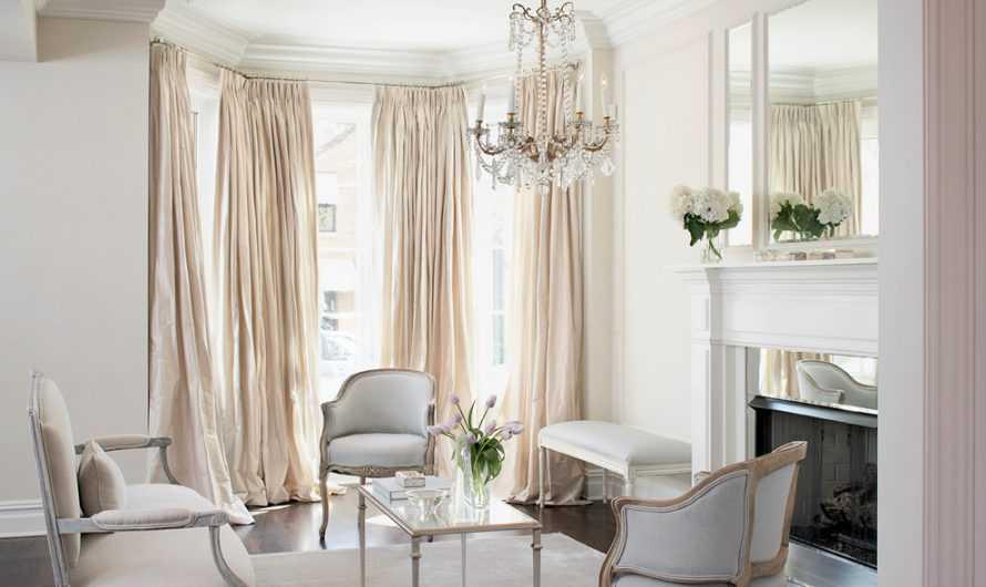 Белые шторы: преимущества и недостатки белого цвета штор. Подходящие стили интерьера и материалы ткани. Декорирование белых штор (фото + видео)
