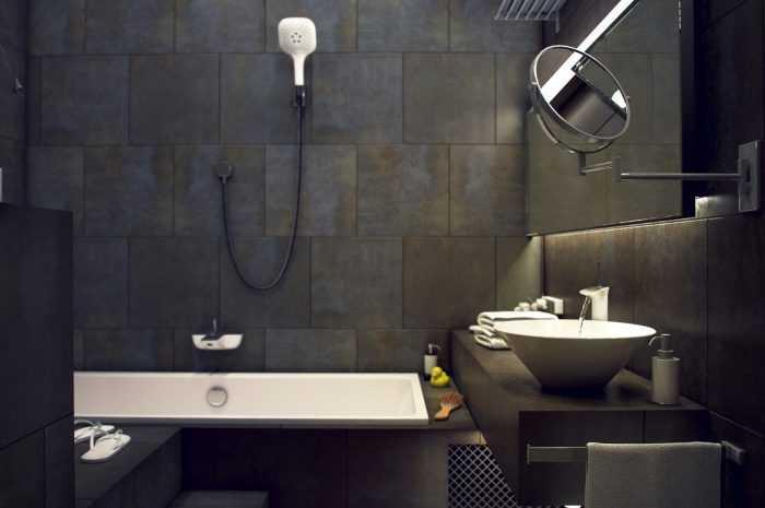 Черная ванная комната — оригинальный дизайн и стильные решения для современной ванной (115 фото)