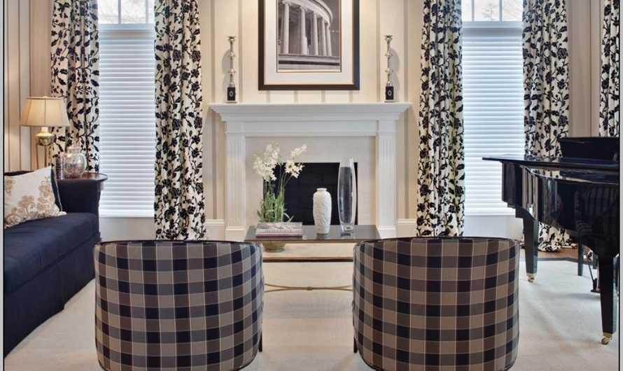 Черно-белые шторы — 155 фото примеры и видео описание как выбрать актуальные варианты дизайна