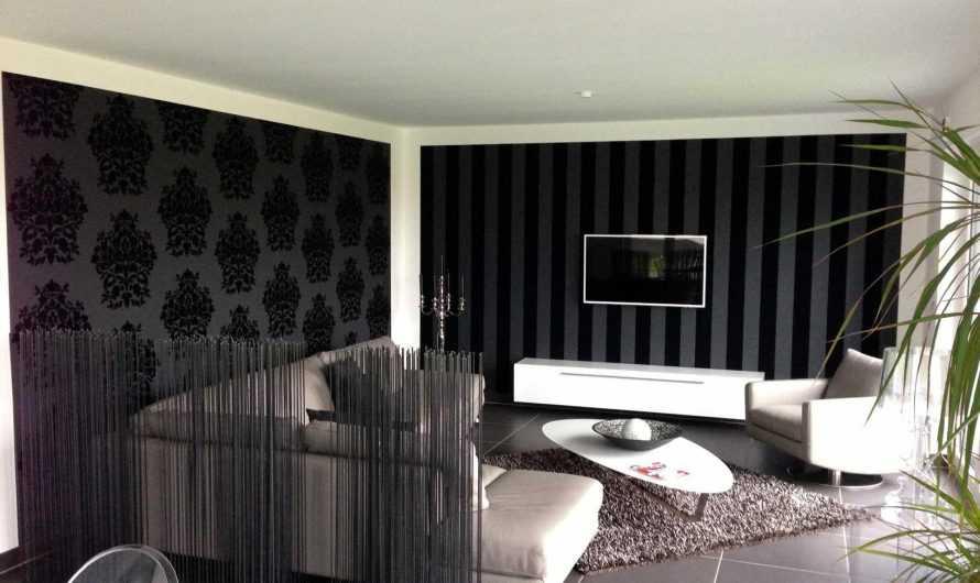 Черные обои: лучшие сочетания, рисунки, дизайн и советы по креативному использованию (видео + 140 фото)