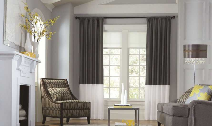 Двухцветные шторы: преимущества двухцветных штор, спектр сочетаний цветов и оттенков. Выбор количества слоев, тканей и фактур (фото + видео)