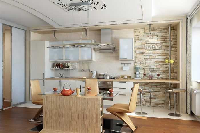 Кухня студия — 155 фото примеров как сделать стильной, просторной и удобной большую кухню