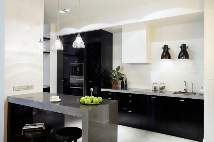 Кухня в стиле хай-тек: 135 фото и видео мастер-класс организации пространства и оформления