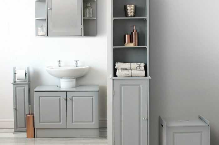 Мебель для ванной комнаты: советы по выбору мебели для ванной учитывая стиль интерьера. Правила подбора материалов. Размещение мебели (фото + видео обзоры)