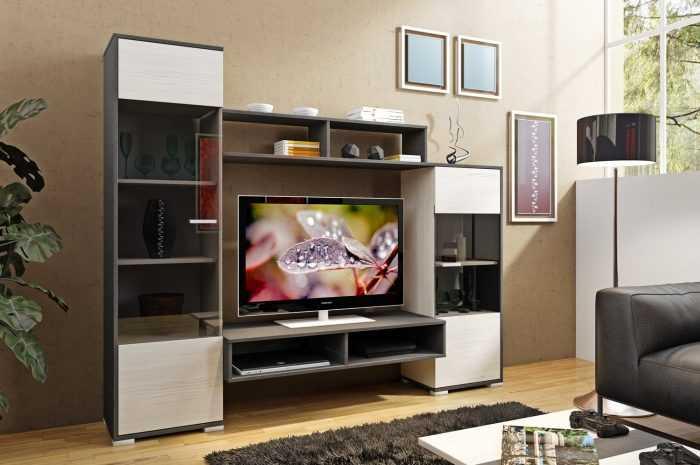 Мини стенки для гостиной — 180 фото адаптированных под малогабаритные квартиры мебельные стенки