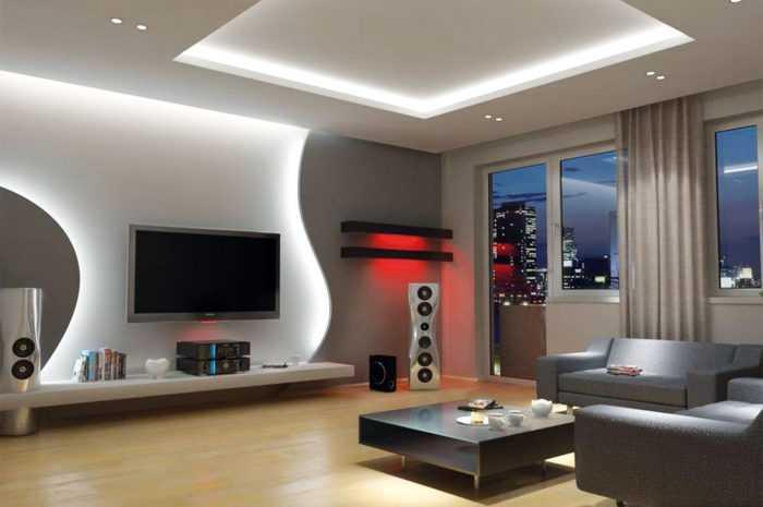 Ниша в гостиной — 165 фото и видео описание стильного украшения стеновой ниши своими руками