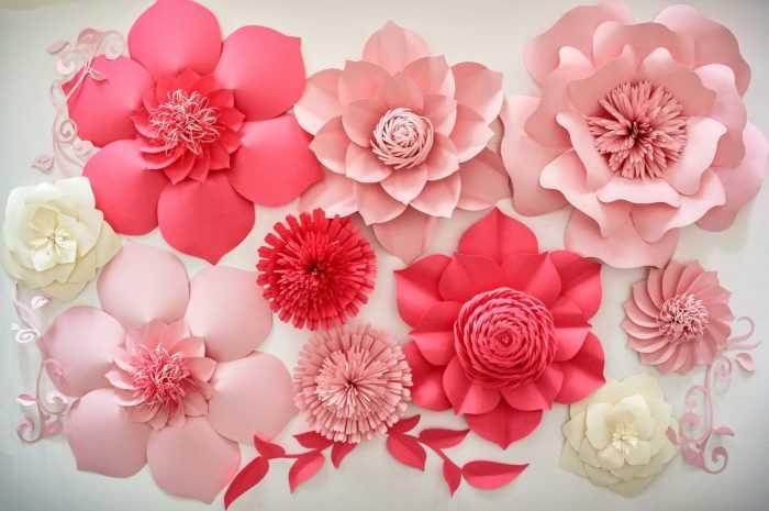 Объемные цветы из бумаги — оригинальные идеи и стильные варианты применения цветов (170 фото + видео)