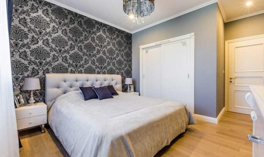 Обои для спальни — 125 фото и видео стильных и красивых идей украшения спальни при помощи обоев