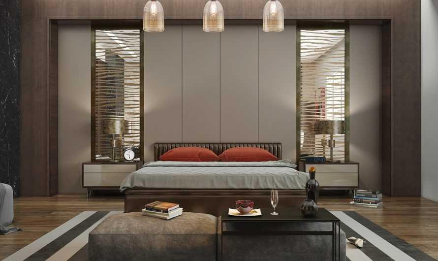 Оформление спальни — ТОП-140 фото вариантов оформления стен. Отделка стен, потолка и полов. Выбор кровати и оформление изголовья. Необычное освещение