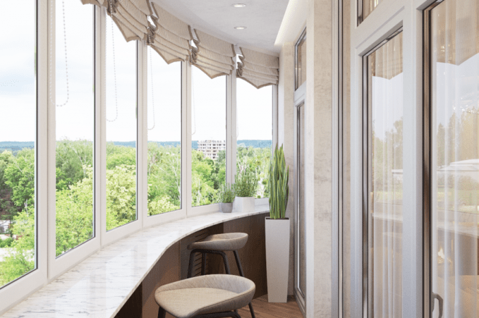 Подоконник на балконе — функции и преимущества подоконника на балконе. Типы подоконников. Выбор материала. Способы крепления и монтажа (фото + видео)
