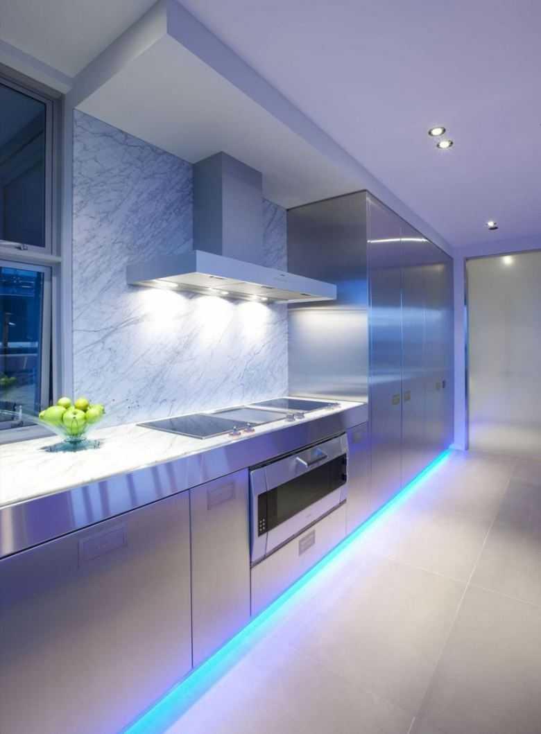 отопление, фото подсветка на потолке волнами в кухне предлагается выбор