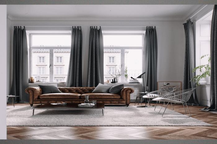 Серые шторы: модные решения и советы как выбрать актуальные сочетания с серым (видео + 170 фото)
