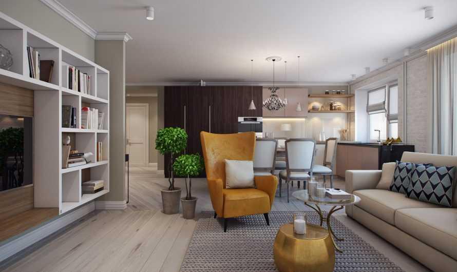 Трехкомнатная квартира: планировка и правильное использование пространства. Выбор материалов отделки, мебели и света (фото + видео)