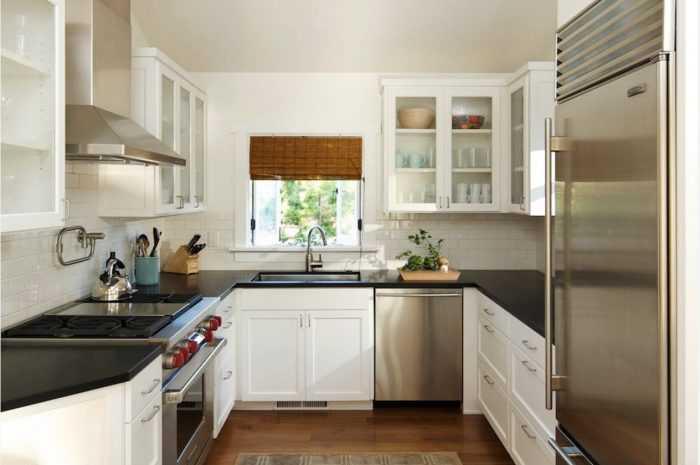 П-образная кухня: плюсы и минусы П-образной планировки. Способы расстановки мебели, деление на рабочую и обеденную зону. Фото и видео идей дизайна
